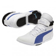 audemar:Baskets PUMA Xelerate Montantes Blanches et Bleues