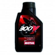 audemar:HUILE MOTEUR 1L 10W40 4T 100% Synthèse MOTUL 300V Road Racing